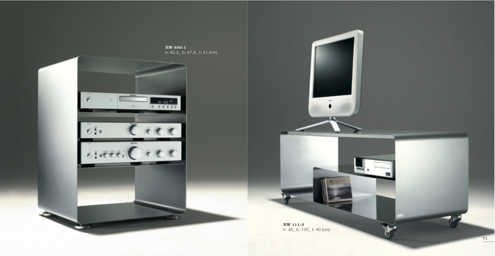 MOBILE LINE: Hifi-Rack & Sideboard